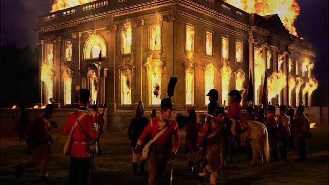Image result for war of 1812 burning of the white house