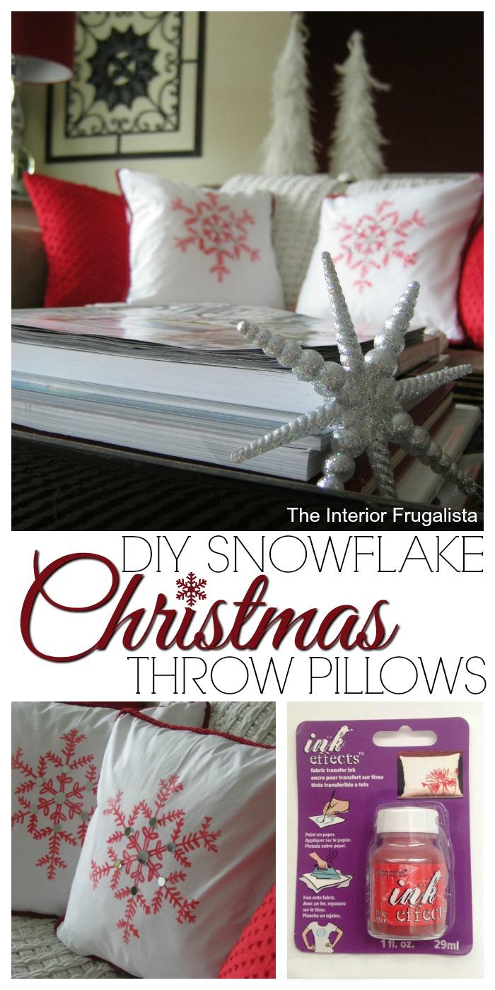 Diy Snowflake Christmas Throw Pillows The Interior