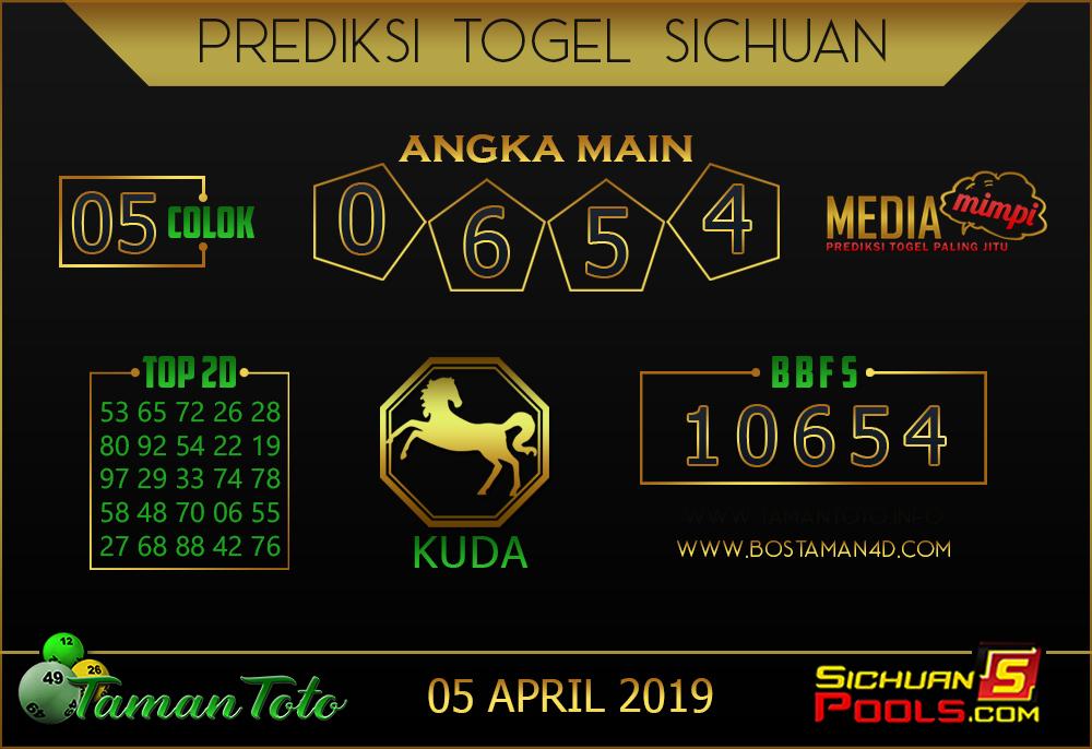 Prediksi Togel SICHUAN TAMAN TOTO 05 APRIL 2019