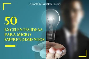 Ideas para microemprendimientos