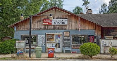 古いガソリンスタンドの画像