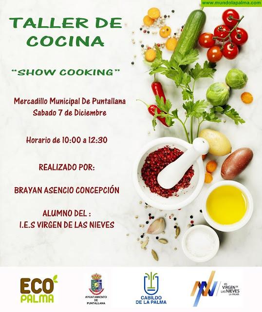 """Mercadillo Municipal de Puntallana, taller de cocina """"showcooking"""""""