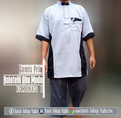 Baju Muslim Gamis Pria Balotelli Abu Muda II