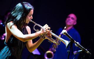Andrea Motis y el cuarteto Joan Chamorro en el Centro Cultural Palacio de la Audiencia en Soria - España / stereojazz