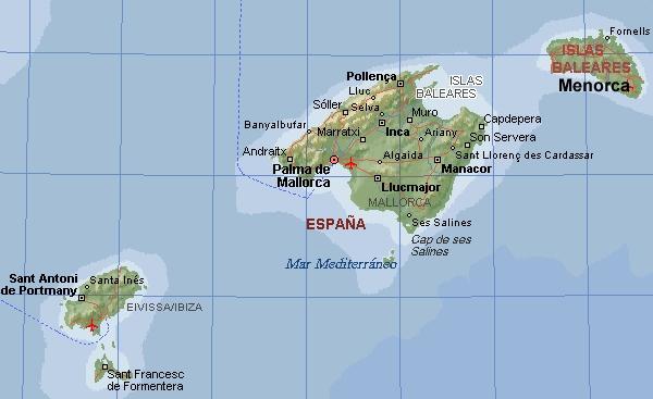 Espana Comunidades Autonomas Medio Fisico De Las Islas Baleares