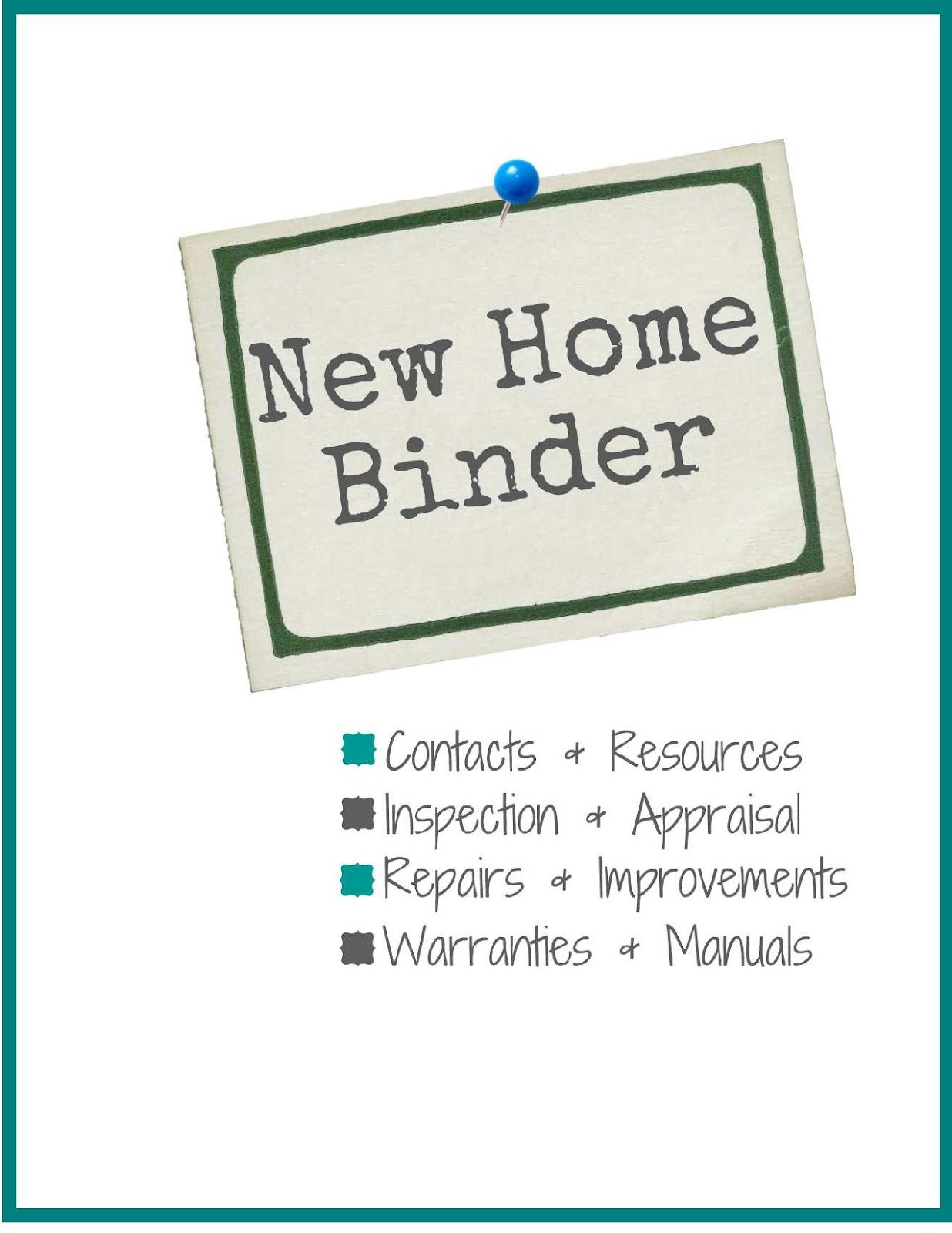 New Home Binder Free Printables Sweet Tea Amp Saving Grace
