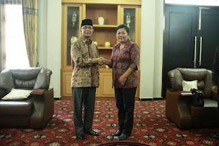 Bupati Karangasem Temui Walikota Mataram