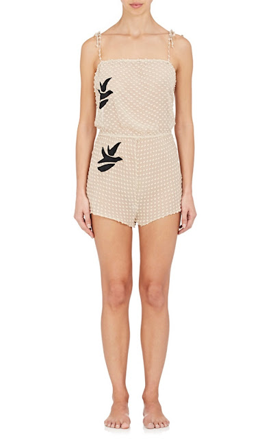 Raven & Sparrow by Stephanie Seymour Silk Fil Coupe Romper