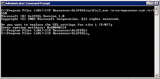 Creating a Self-Signed SSL Certificate in Windows without IIS (for SSRS, for instance)