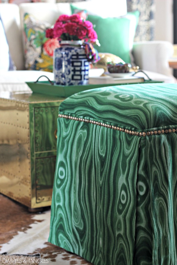 Diy Upholstered Ottomans Almost No Sew Dimples And