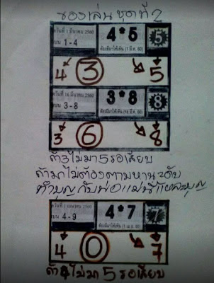 เลขเด่น  4  0  7  ถ้า 4 ไม่มา 5 รอเสียบ