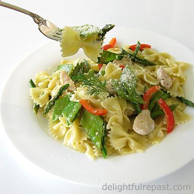 Springtime Pasta / www.delightfulrepast.com