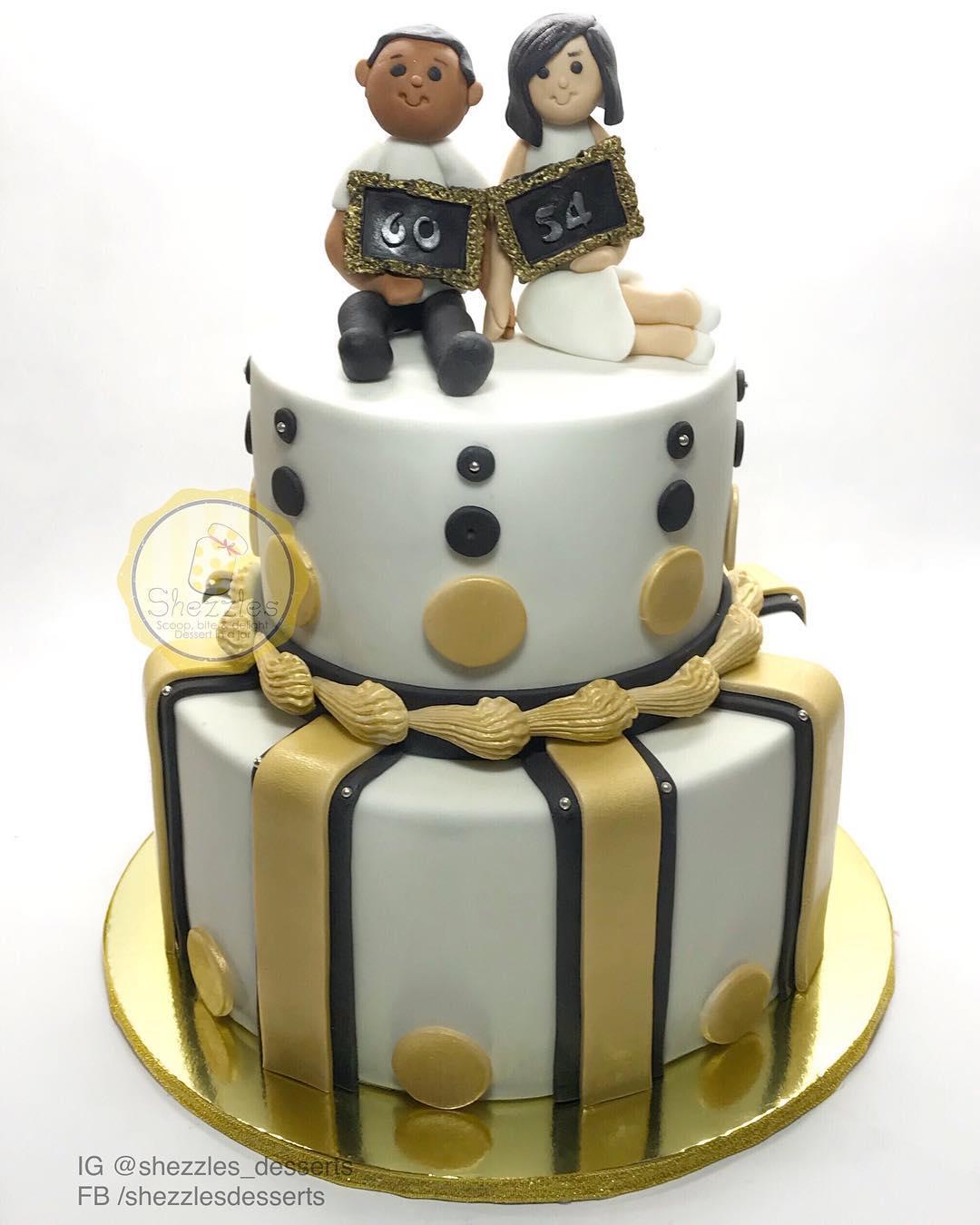 Dessert In A Jar: Husband And Wife Birthday Cake