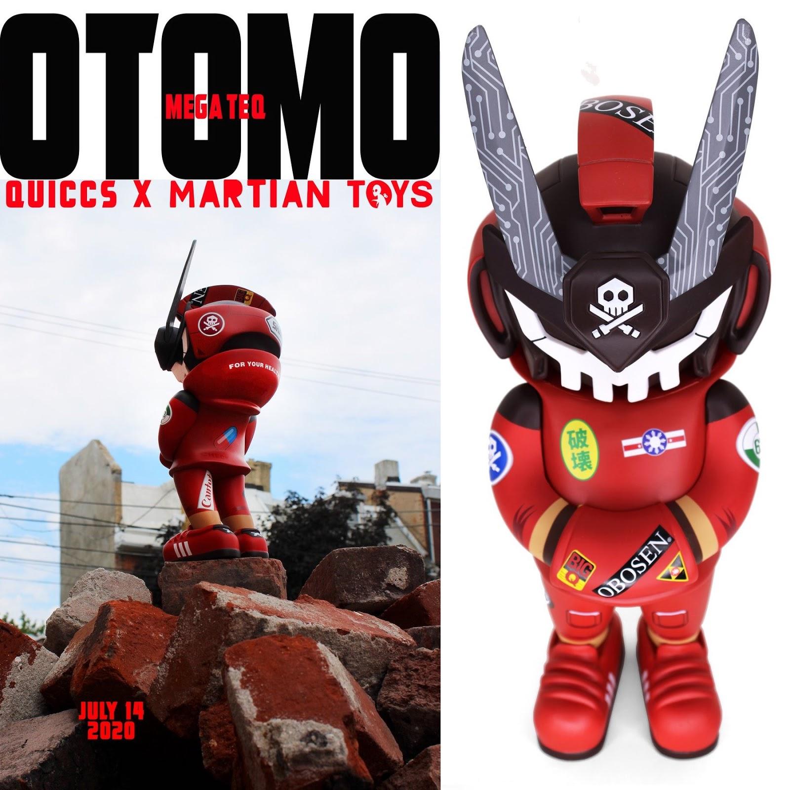 "/""Black/"" - Ghost Complex Edition Quiccs x Martian Toys 12/"" inch MegaTeq -"