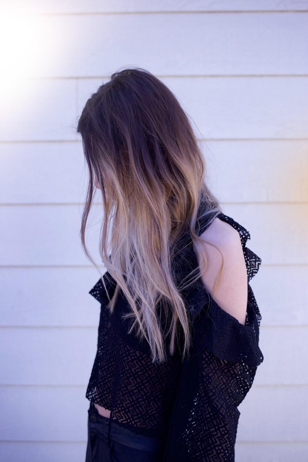 Maeva Dck, ombre hair, balayage, hairstyle