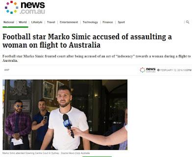 Marko Simic Disidang di Australia dalam Kasus Pelecehan Seksual