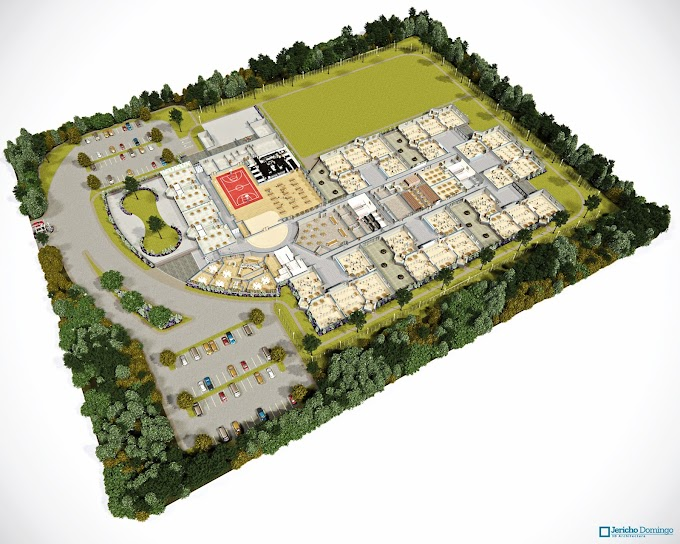 3D Site Plan Overview (Educational Institution)