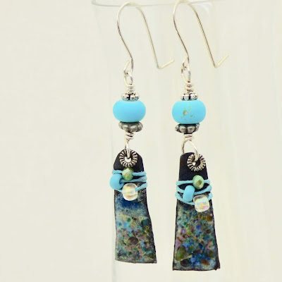 Boho Blue Earrings by BayMoonDesign