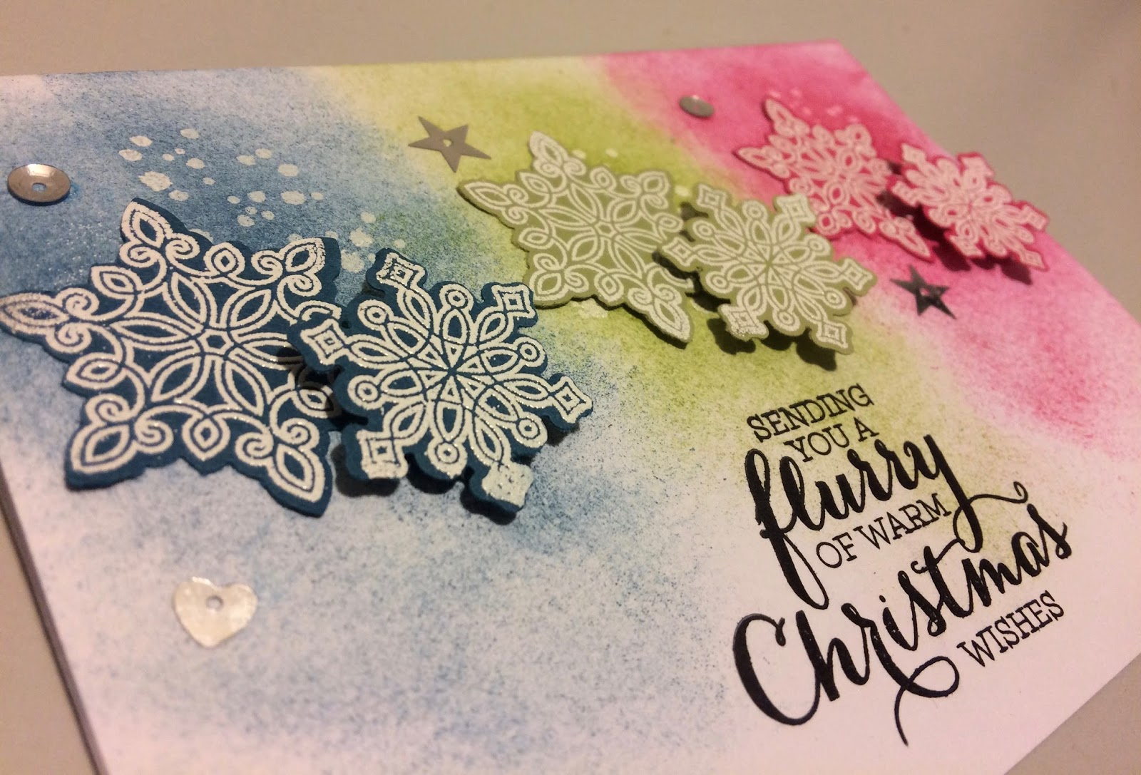 Lauras Creative Moments Sending You A Flurry Of Warm Christmas Wishes