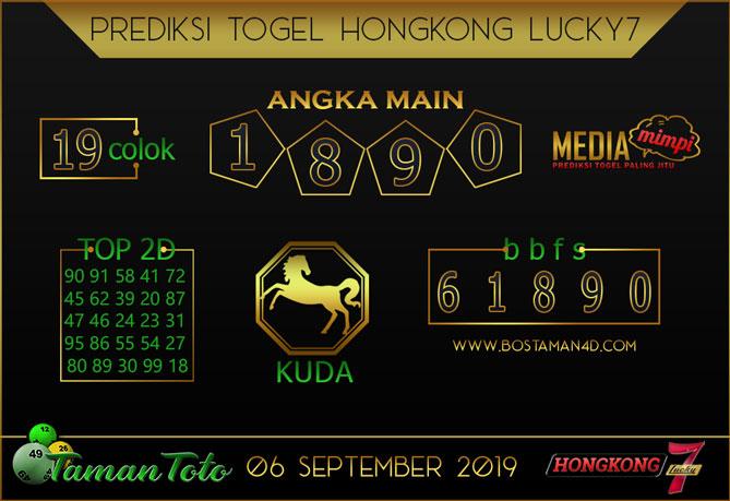 Prediksi Togel HONGKONG LUCKY 7 TAMAN TOTO 06 SEPTEMBER 2019