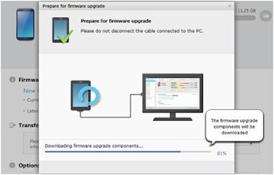 Cara upgrade versi android  samsung