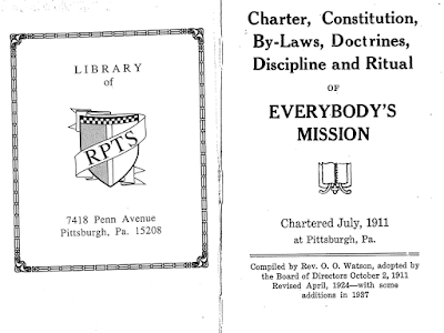 Everybody's Mission Charter by O. O. Watson