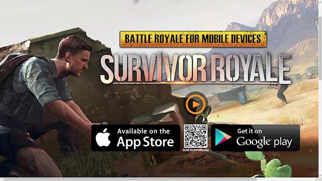 Tampilan situs game Survivor Royale