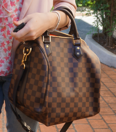 Louis Vuitton Damier Ebene Speedy 30 Bandouliere bag handheld