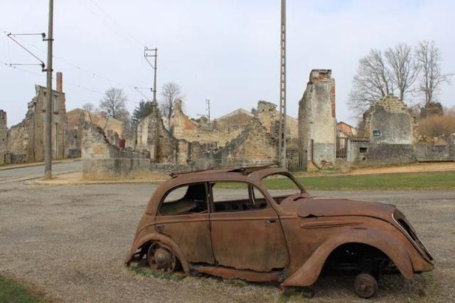 Voiture détruite Oradour