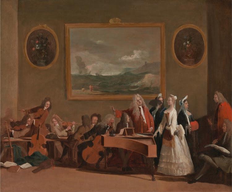 Marco Ricci - Rehearsal of an opera (c.1709)