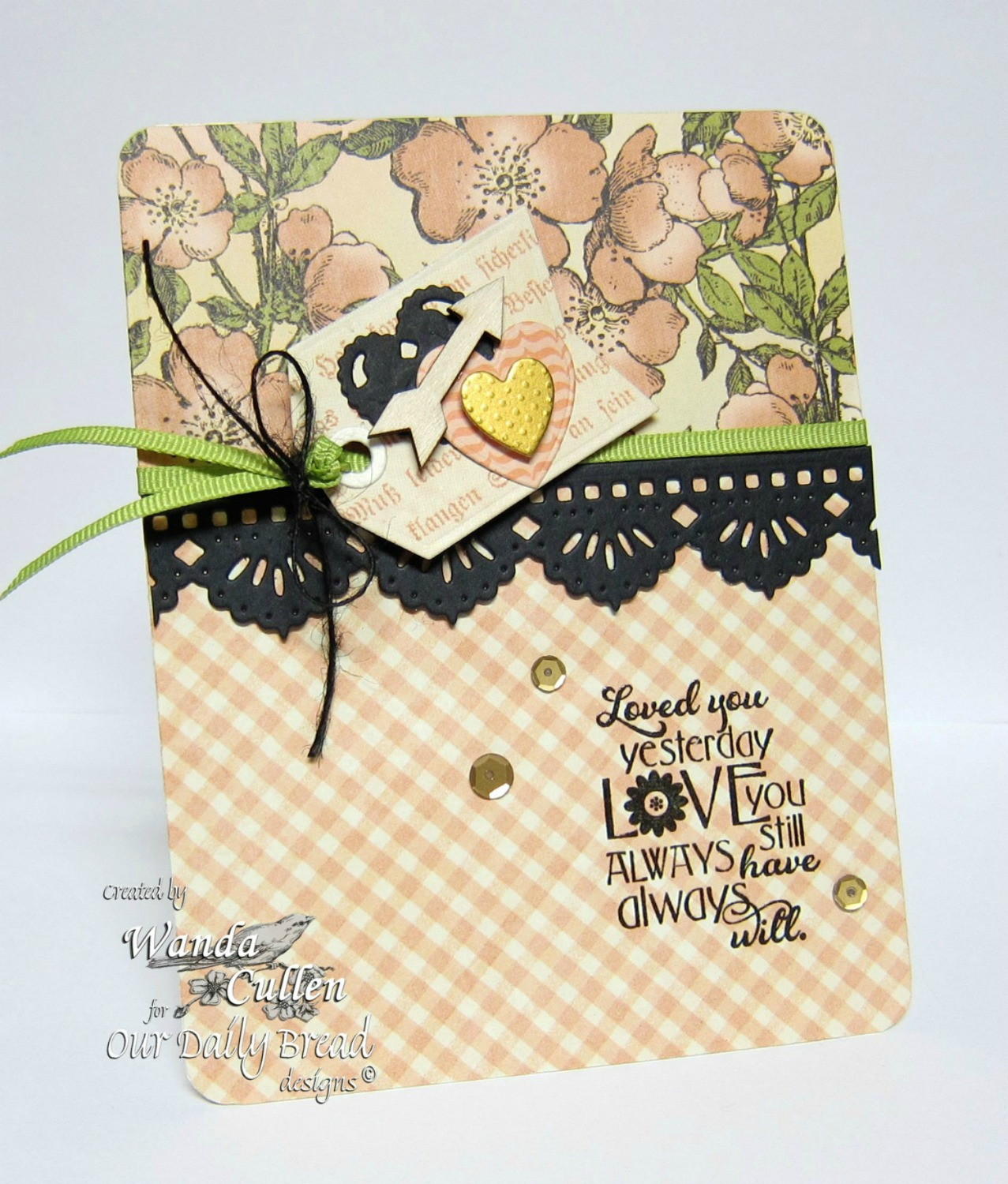 Stamps - Our Daily Bread Designs Love You Bunches, ODBD Custom Ornate Hearts Die, ODBD Custom Beautiful Borders Dies