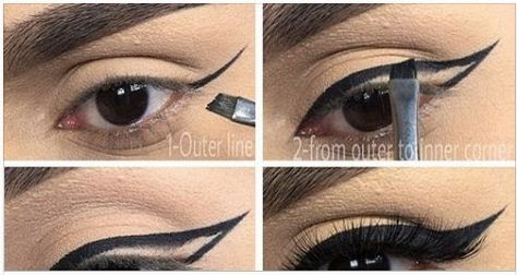 How To Apply Black Double Winged Eyeliner Beauty And
