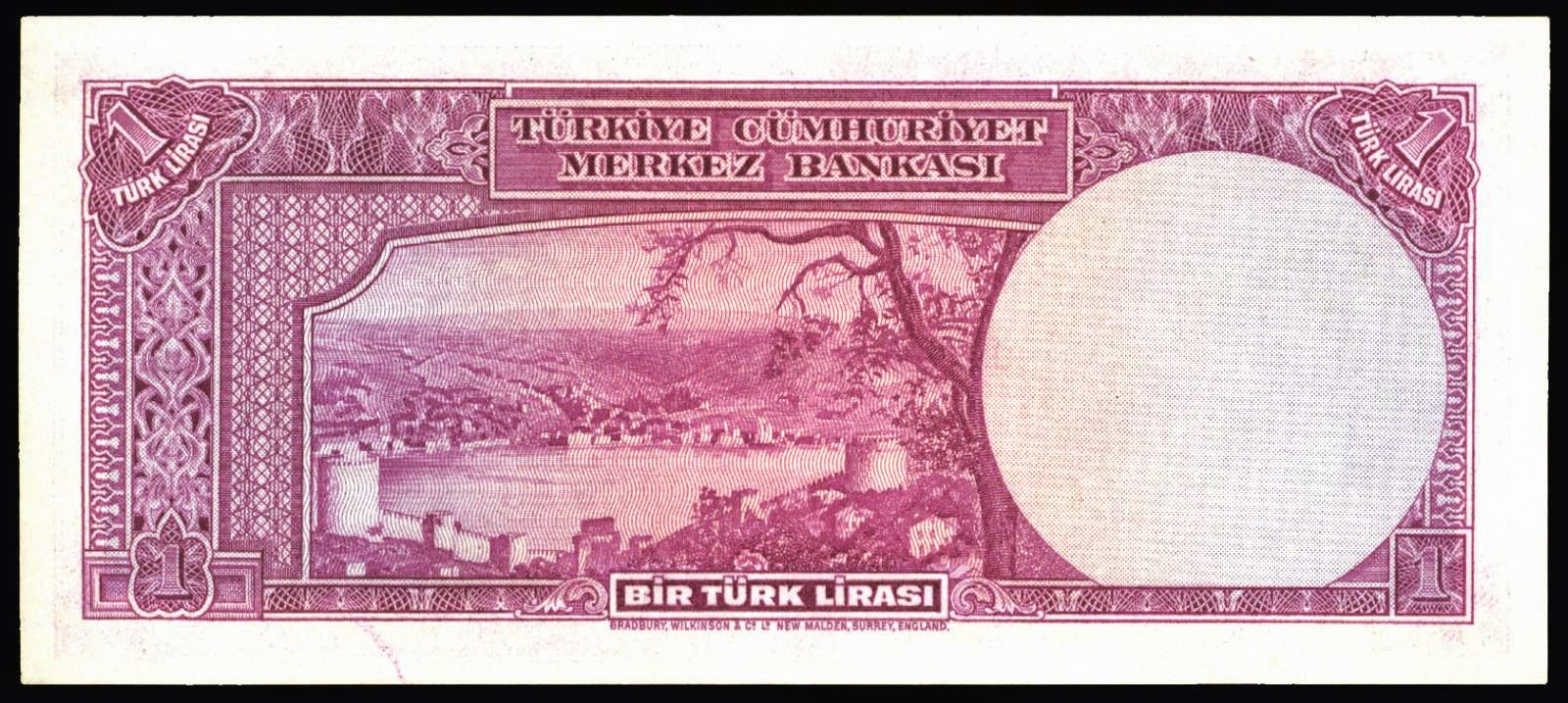 Old Turkish Lira Notes Bills Banknotes