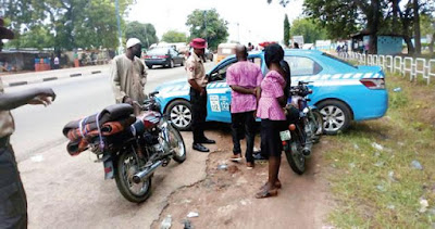 AIT Reporter Brutalised By FRSC Men For Taking Their Pics While Collecting Bribe