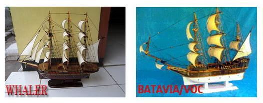 Miniatur kapal layar, miniatur kapal laut, miniatur kapal klasik, miniatur kapal WHALER, miniatur kapal VOC, BATAVIA, Miniatur kapal kayu