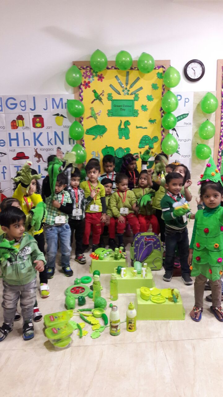 On The Top Of The World Green Colour Day Section Nursery