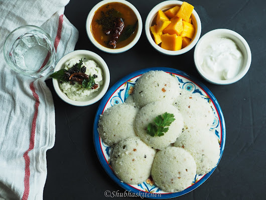 Instant Rava Idli (steamed in the Instant Pot)