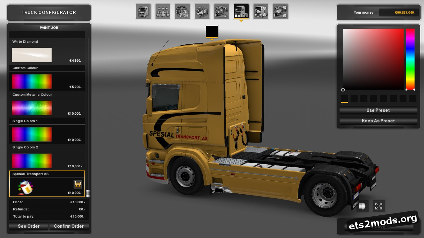 Spesial Transport AS Skin for Scania RJL