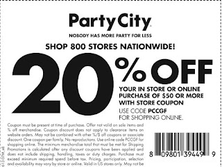 Party City Printable Coupons December 2014