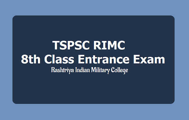 TSPSC RIMC Entrance Exam