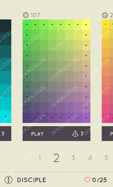 I Love Hue Disciple Level 2 Solution, Cheats, Walkthrough