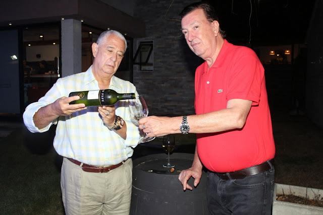 Sergio Puglia y Paco Calvete en la fiseta de Tío Pepe en #PuntaDelEste @pugliainvita