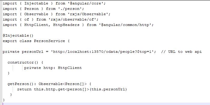 Web API with Angular – Part 6 – Angular Service Connection