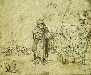 """""""Um Ancião Falando com Mulheres"""", Rembrandt"""