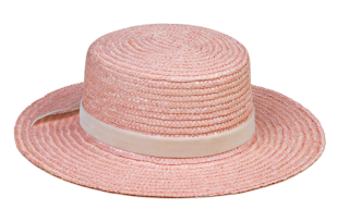 "Lack of Color ""The Paradiso"" pink straw boater"
