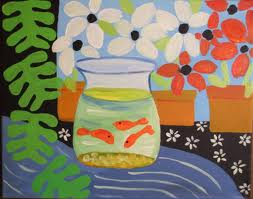 Matisse Fishbowl Still Life Picture Goldfish