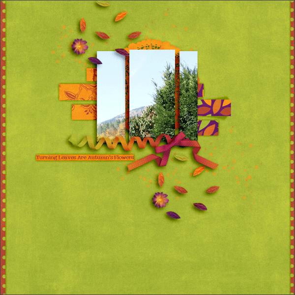leaves © sylvia • sro 2015 • designs by romajo • fabfall: magic fal