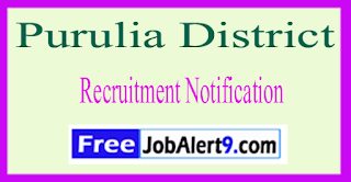 Purulia District Recruitment Notification 2017 Last Date 25-05-2017