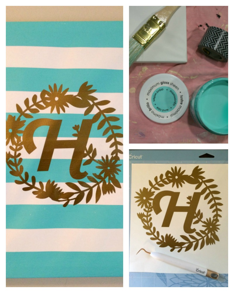 Simple Make an easy monogrammed canvas wall art using your Cricut Explore