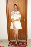 Lavanya Tripathi in Summer Style Spicy Short White Dress at her Interview  Exclusive 289.JPG